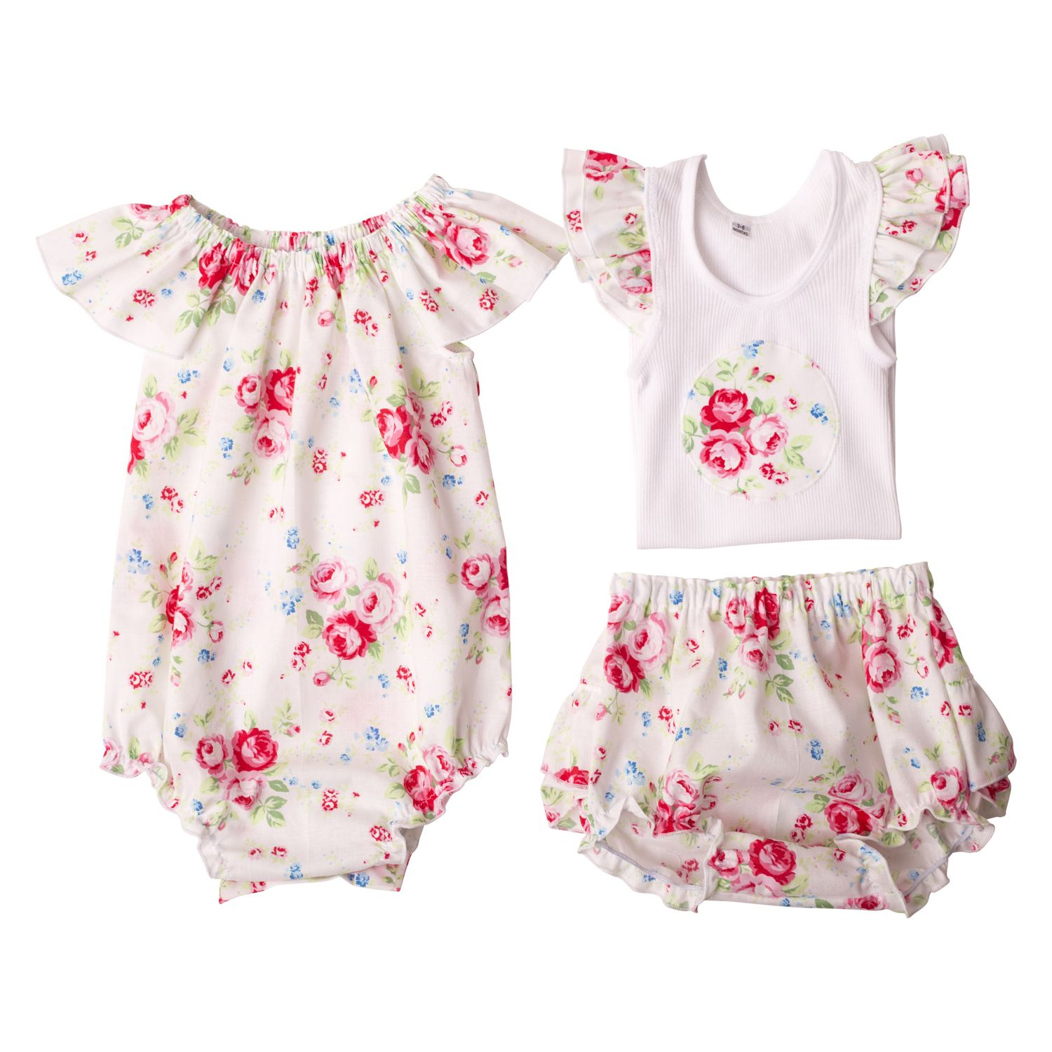 Girls Flat Lay Collection Miss Ruby Floral