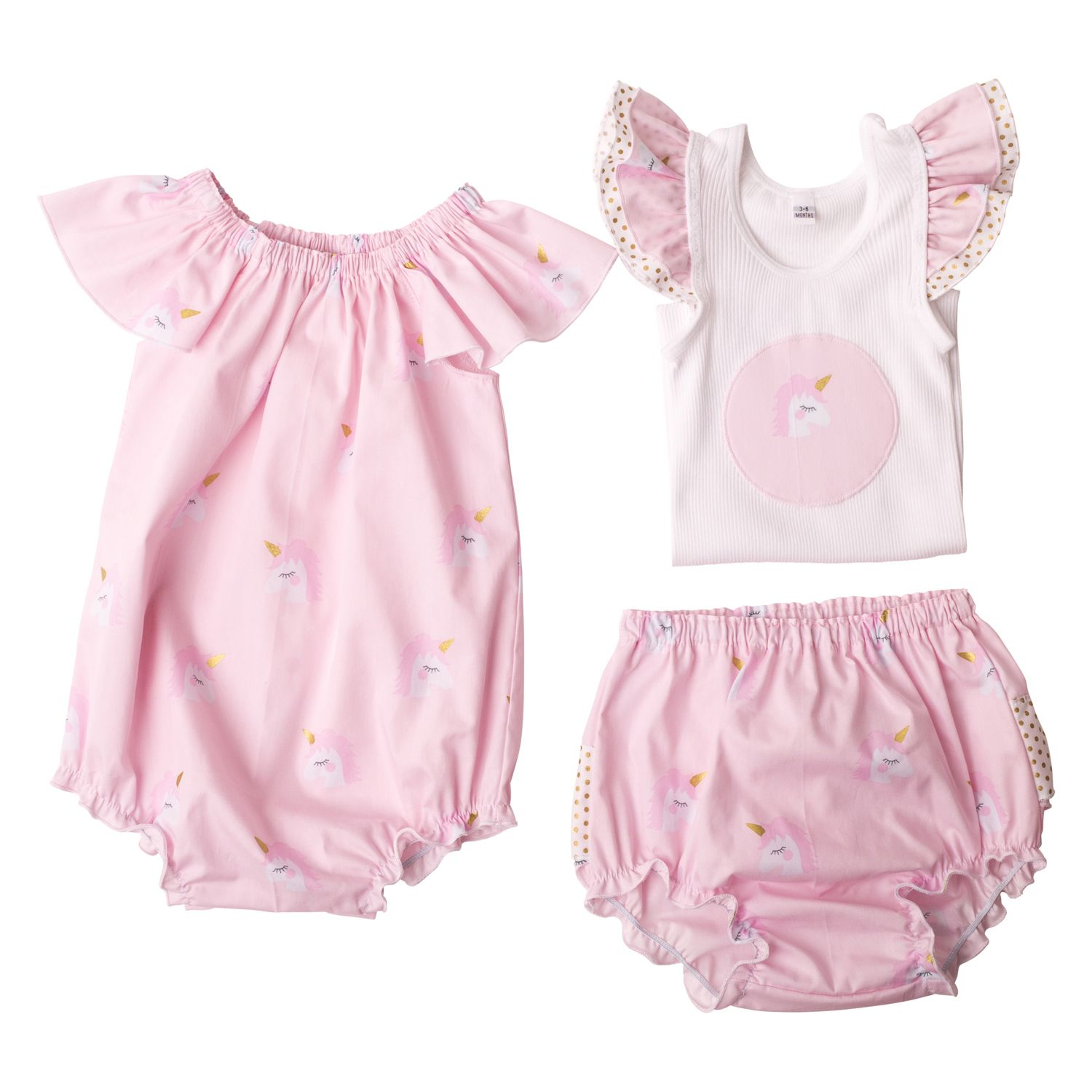 Girls Flat Lay Collection Pink Unicorn Love