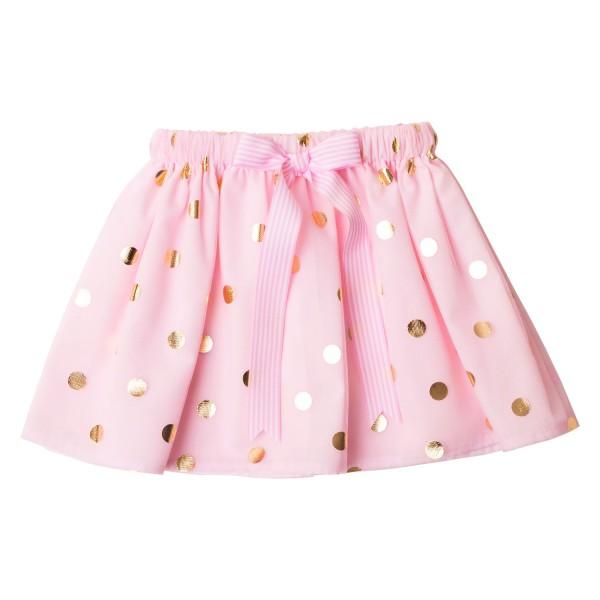 Girls Tutu Twirling Skirts Collection2 Pink & Gold Spot Tulle Tutu Skirt
