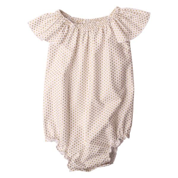 Little Miss Dotty Collection Flutter sleeve romper6