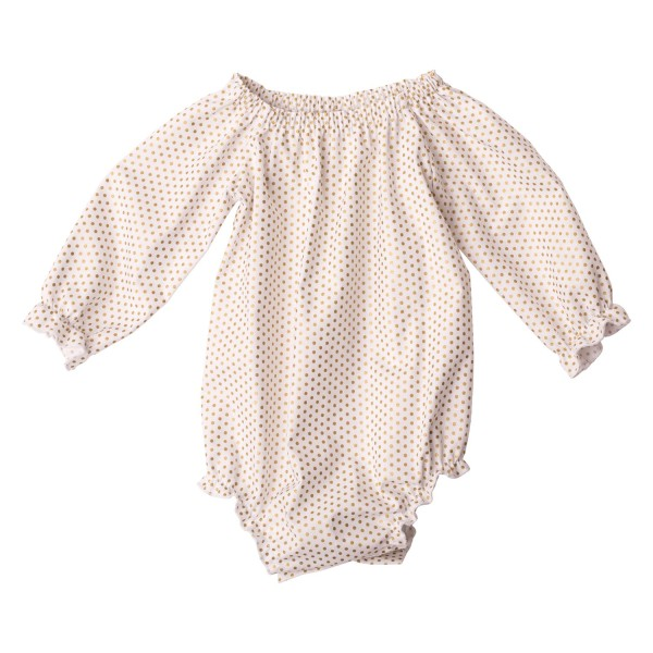 Little Miss Dotty Collection Long Sleeve Fabric Romper7