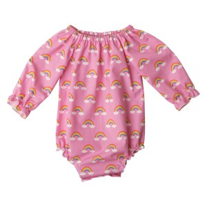 Little Miss rainbow Long Sleeve Fabric Romper06