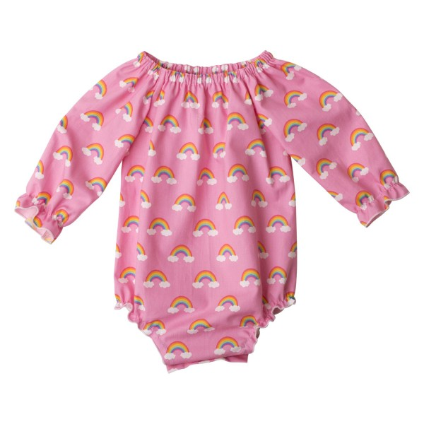 Little Miss rainbow Long Sleeve Fabric Romper06