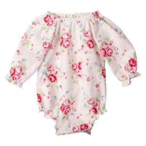 Miss Ruby Floral Collection6 Long Sleeve Fabirc Romper