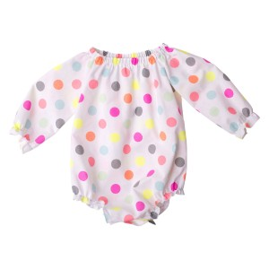 Neon Love Collection06 Long Sleeve Fabric Romper (1)