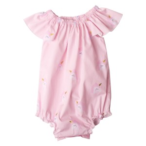 Pink Unicorn Love Collection Flutter Sleeve Romper