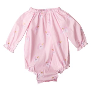 Pink Unicorn Love Collection Long Seeve Fabric Romper